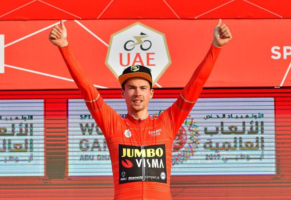 In pictures: Fernando Gaviria of UAE Team Emirates wins stage 2 of the UAE Tour