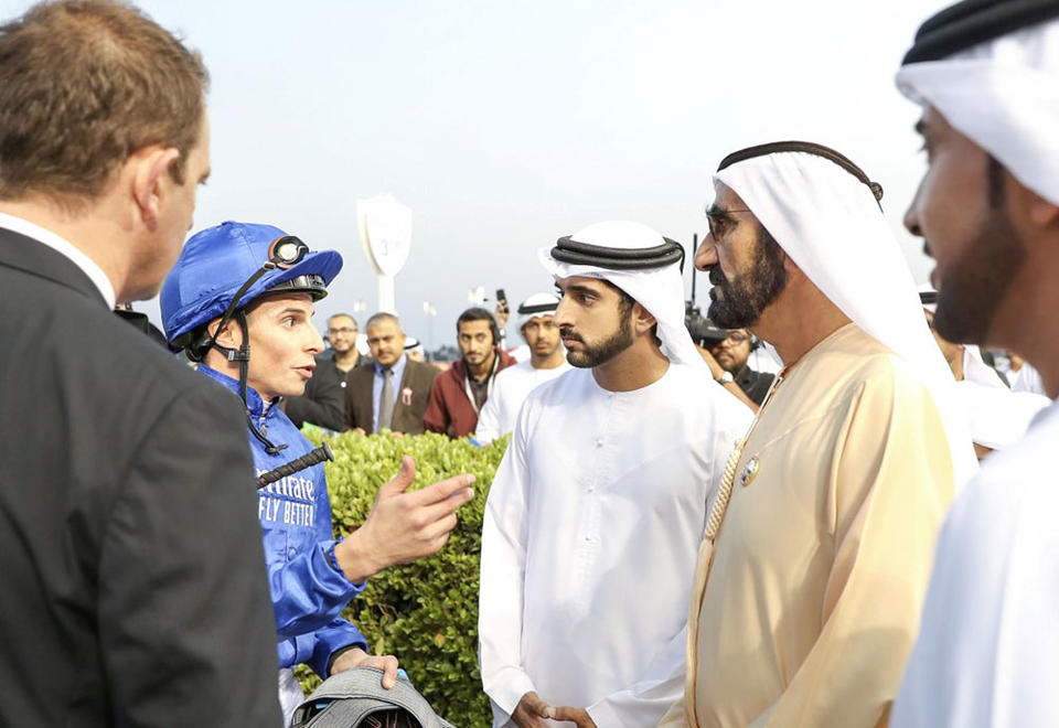 In pictures: Dubai's Sheikh Mohammed attends Super Saturday races at Meydan