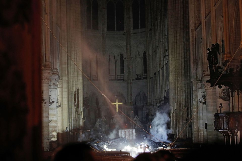 In pictures: Massive fire at Notre Dame Cathedral in Paris under control