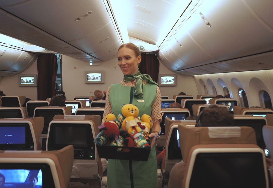 In pictures: World's longest plastic-free flight touches down in Brisbane