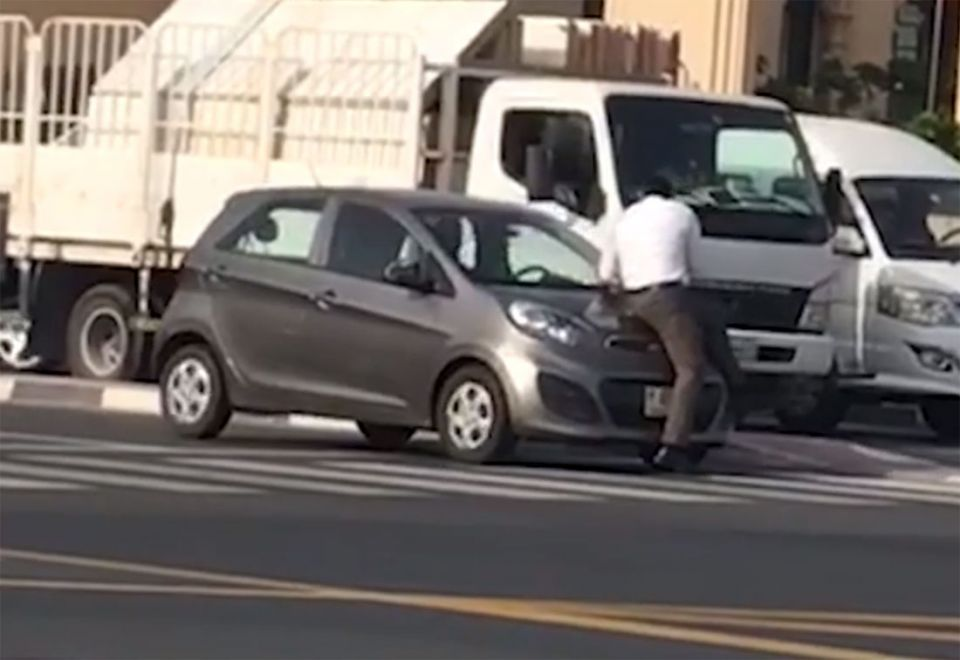 Person who uploaded viral video of valet worker on car bonnet arrested, says Dubai Police