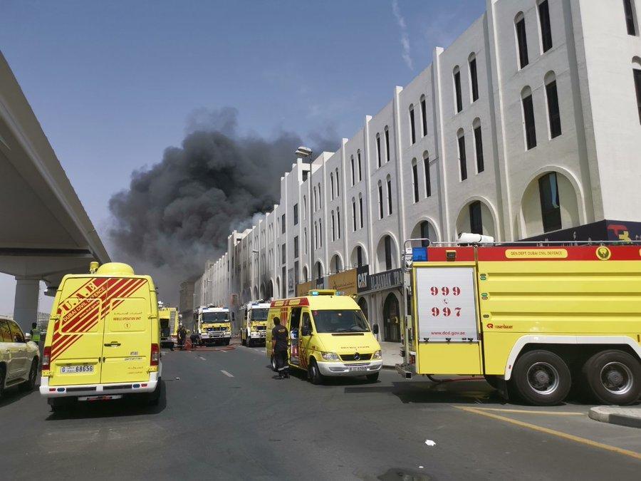 Fire breaks out near Dubai Metro station in Deira