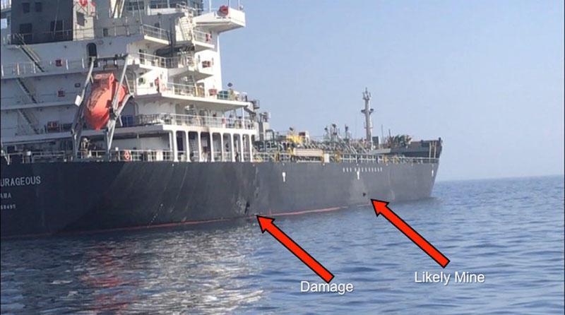 Tanker damaged in attack arrives at Sharjah anchorage