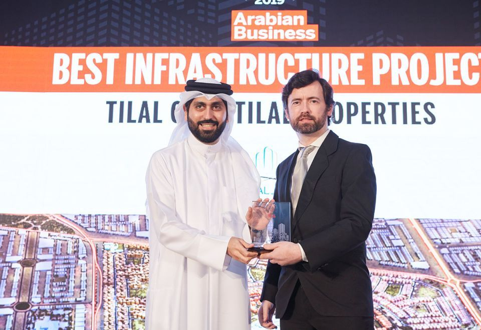 Tilal Properties honoured with the Arabian Business 'Best Infrastructure Project' award