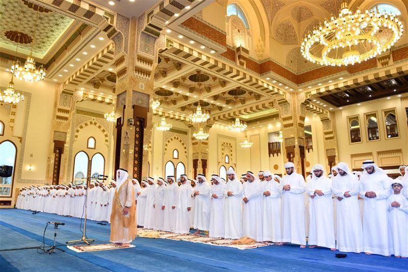 Dubai ruler offers Eid Al Adha prayer at Za'abeel Mosque