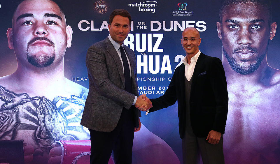 Joshua v Ruiz Jr fight in Saudi Arabia 'could change boxing forever', says Eddie Hearn