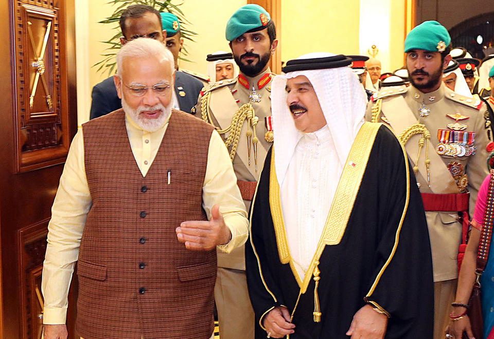 Gallery: India's Prime Minister arrives in Bahrain