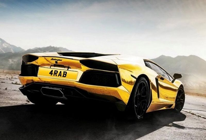 UK car licence plate - 4RAB - on sale for over $870,000