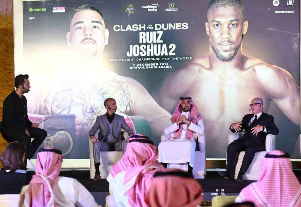 Gallery: Andy Ruiz Jr and Anthony Joshua in Saudi Arabia ahead of December bout