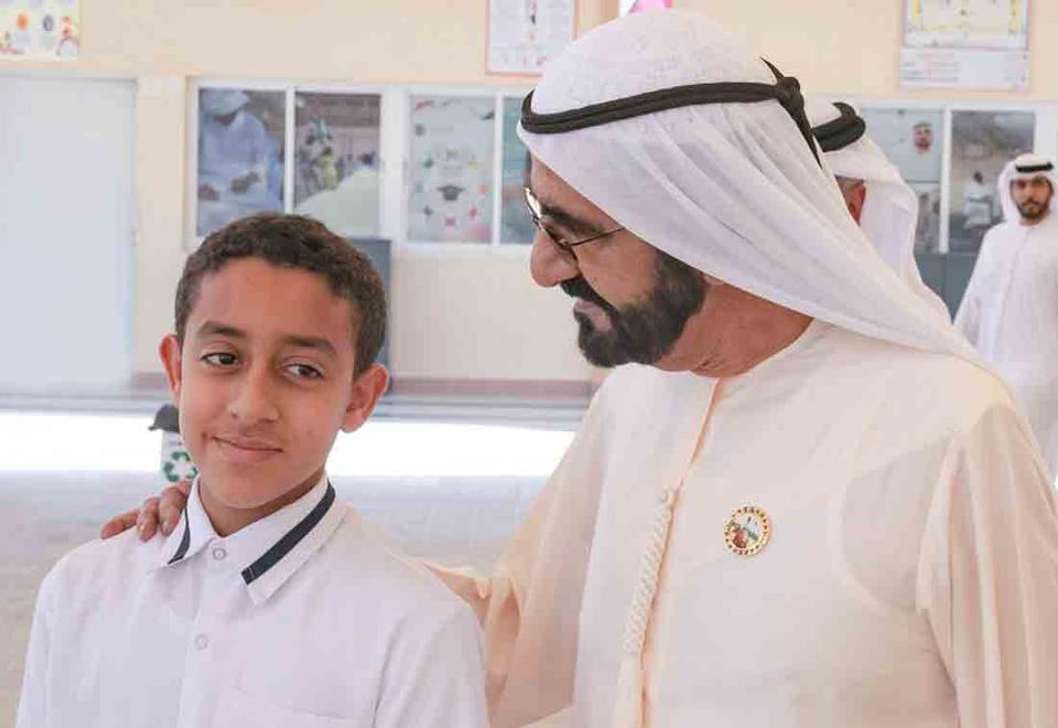 Gallery: Sheikh Mohammed meets the schoolboy hero who saved classmates in Kalba bus fire