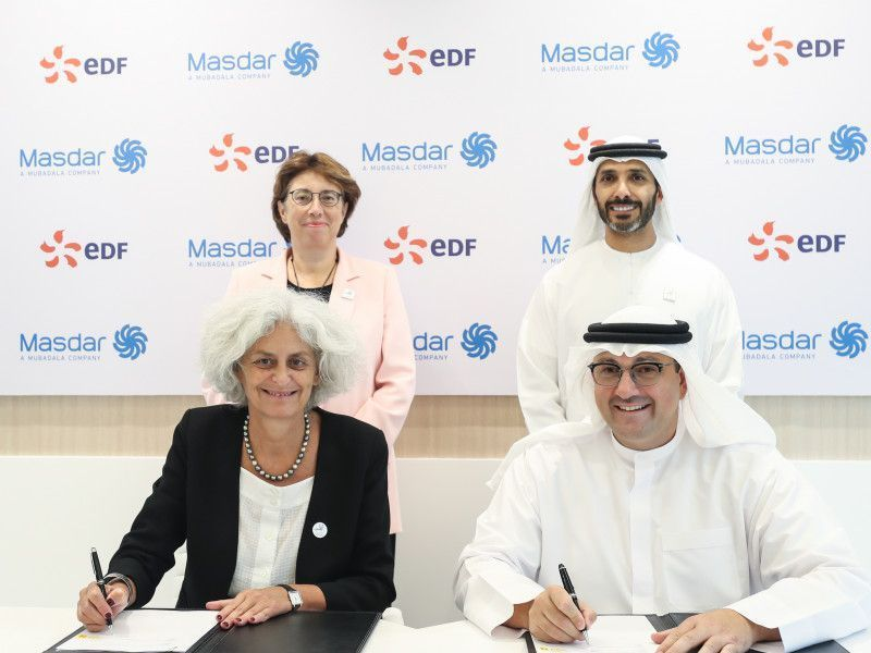 UAE's Masdar, EDF ink deal to set up energy services JV