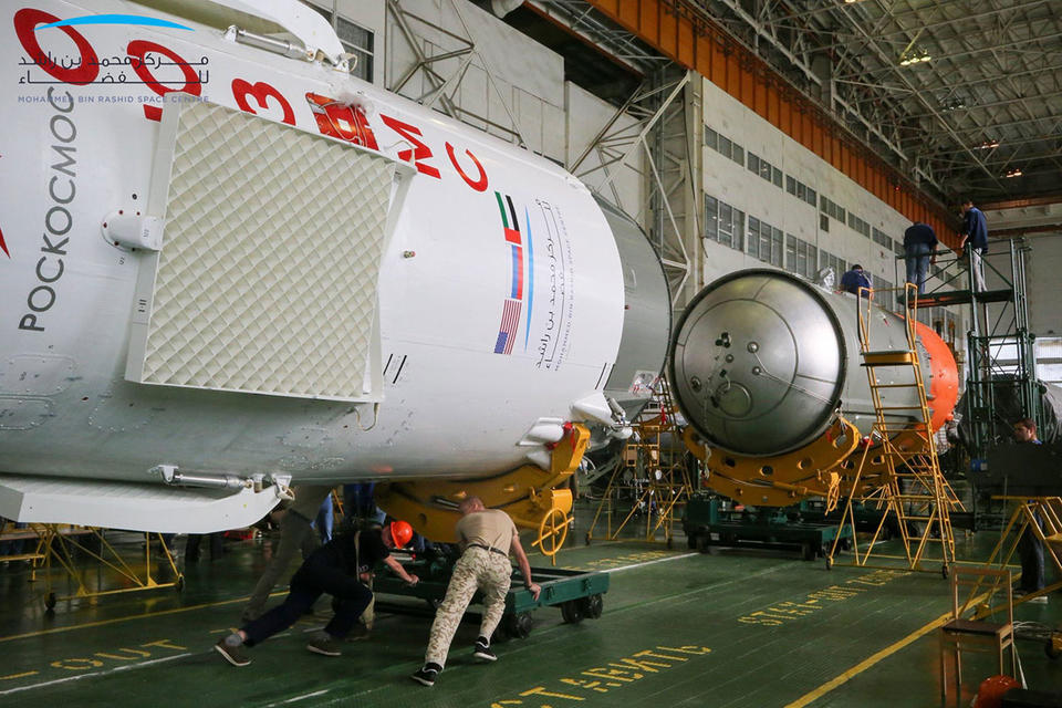 Soyuz rocket ready to take UAE astronaut to space in historic mission