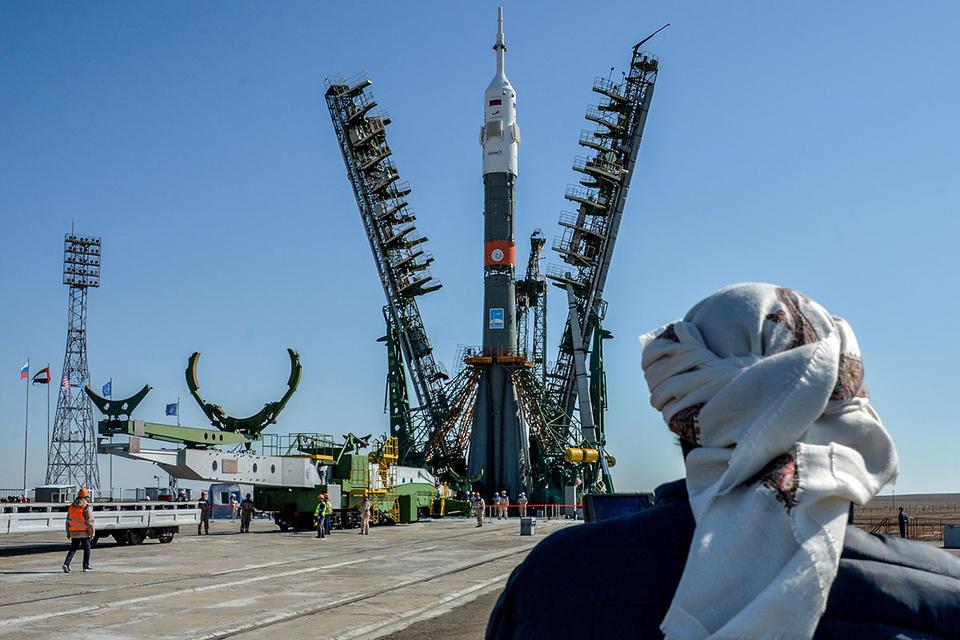 Gallery: Soyuz rocket on the launch pad in Kazakhstan