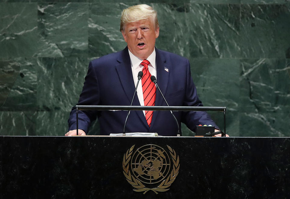 Trump uses UN speech to hit China over trade weeks before talks