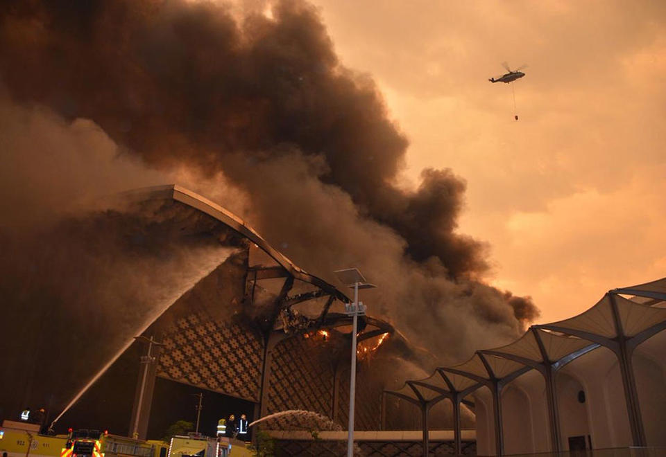 Gallery: Blaze erupted at Saudi high-speed train station in Jeddah