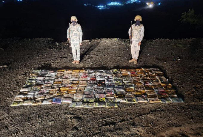 Gang of 76 caught trying to smuggle over 1,800kg of hashish into Saudi Arabia
