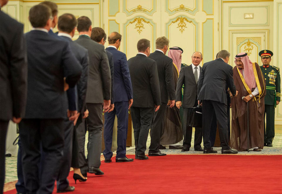 In pictures: Russian President Vladimir Putin in Riyadh for state visit