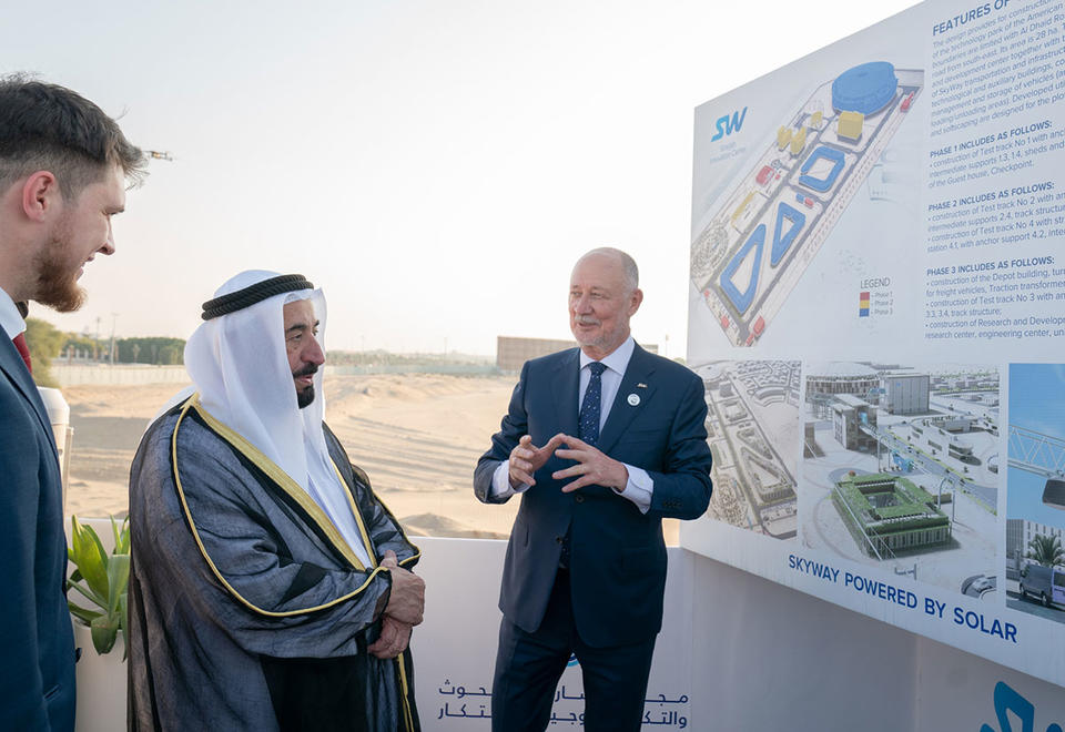 In pictures: Sharjah ruler inspects SkyWay project