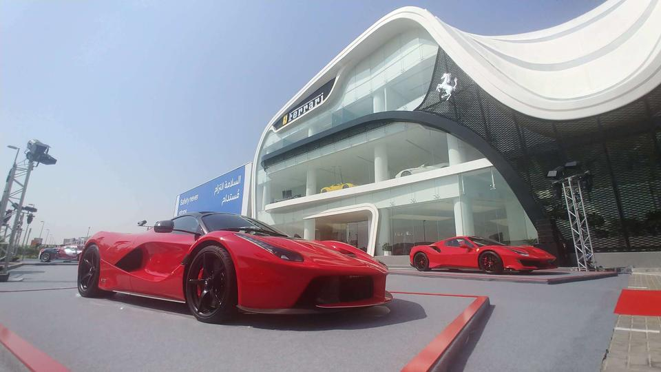 One of Ferrari's biggest showrooms opens in Dubai