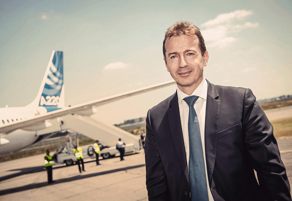 High flier: Airbus CEO Guillaume Faury