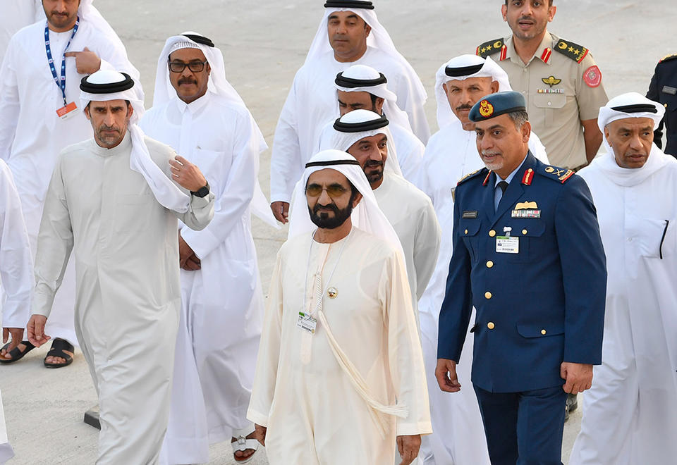 In pictures: Sheikh Mohammed inspects progress on Dubai Airshow
