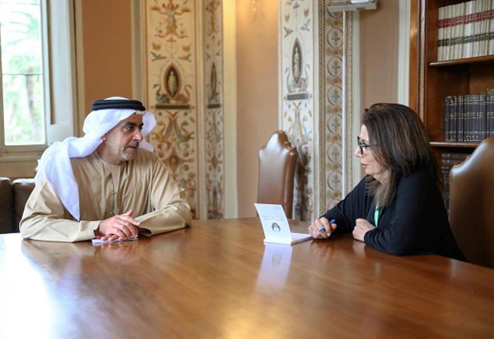 In pictures: Sheikh Saif bin Zayed meets Pope Francis in the Vatican
