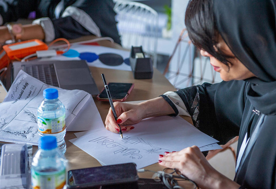 In pictures: Emirati artists start work on UAE Nation Brand logo