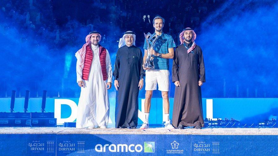 In pictures: Daniil Medvedev wins inaugural Diriyah Tennis Cup final in Saudi Arabia