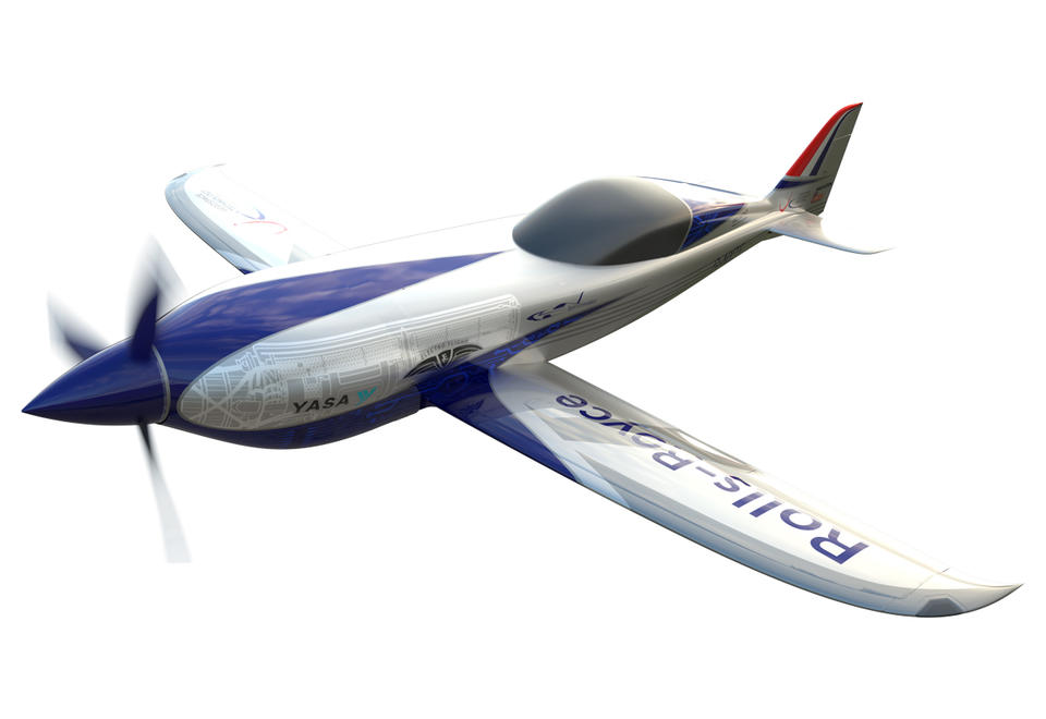 In pictures: Rolls-Royce unveils the world's fastest electric-powered aircraft