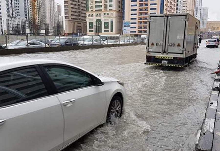 In pictures: Heavy rain causes widespread flooding in the UAE