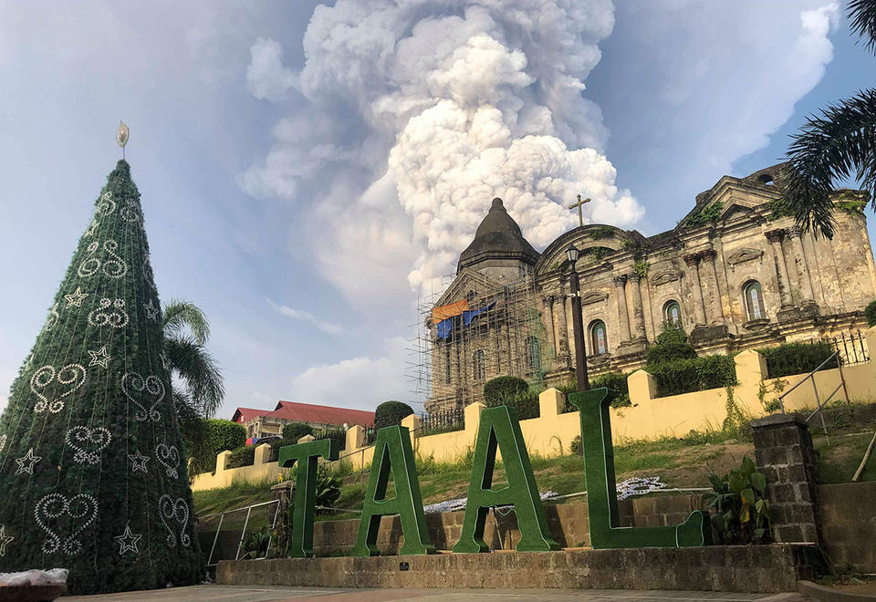 In pictures: Taal Volcano erupts near the capital Manila