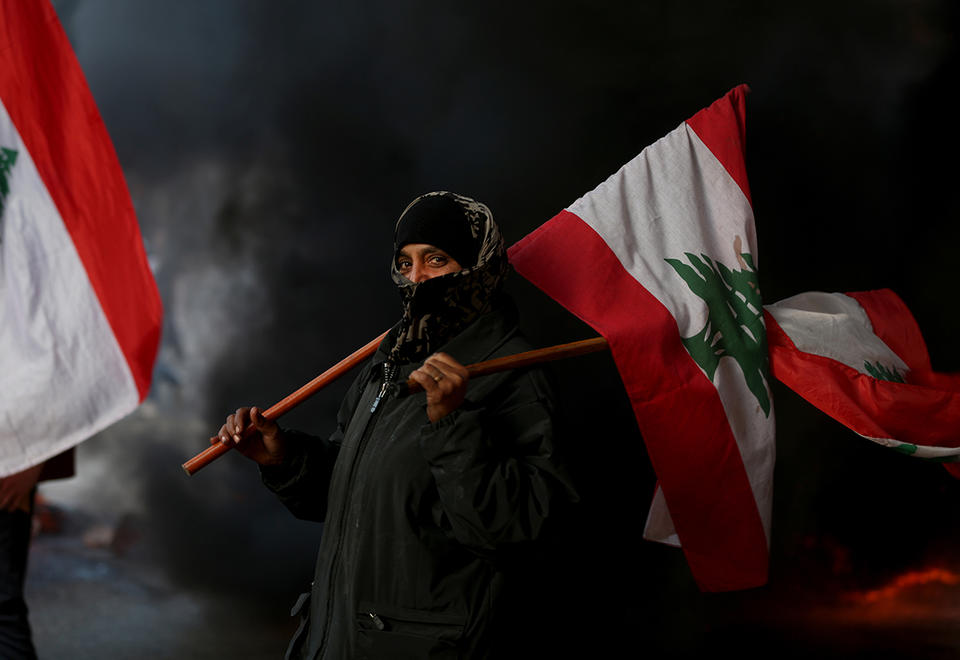 In pictures: Lebanese protesters spilled back into the streets