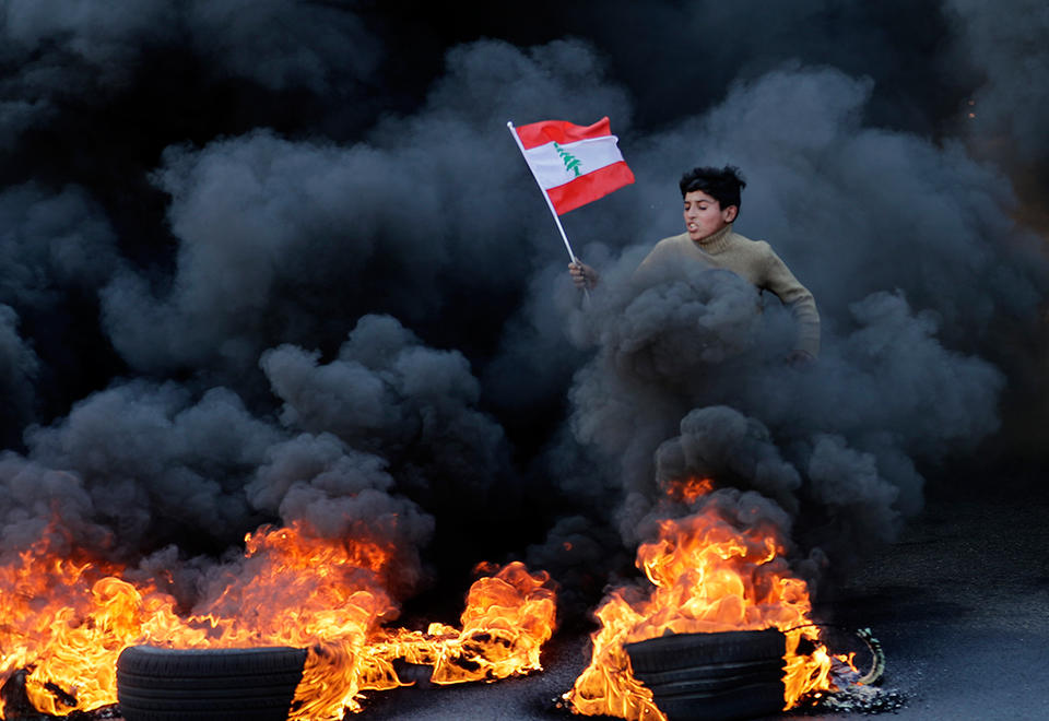 Lebanon in 'week of wrath' protests over political, economic crisis