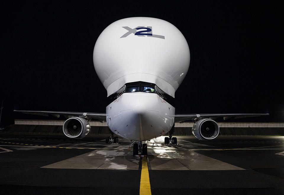 In pictures: Airbus' first BelugaXL freighter enters service