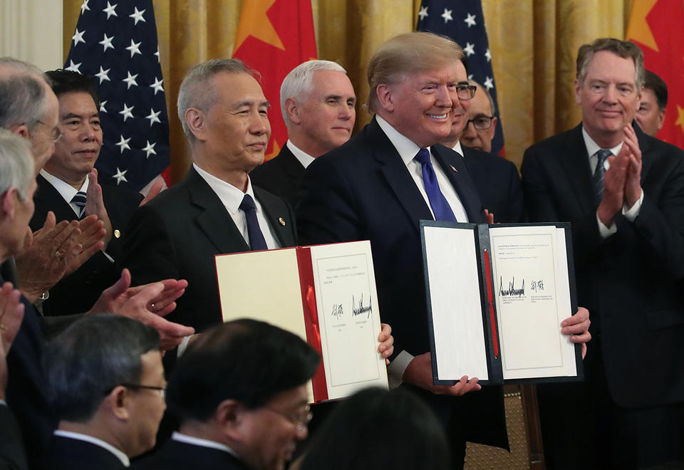 US, China sign 'momentous' trade deal that leaves massive tariffs in place