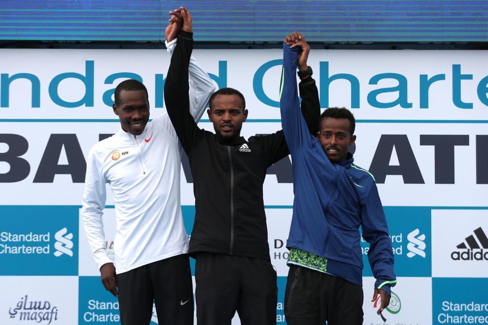 Debutant Bikila wins Dubai Marathon, takes home $100k prize