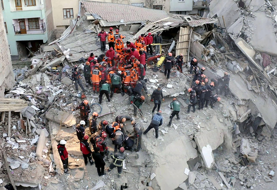 In pictures: Massive 6.8 earthquake rocks eastern Turkey