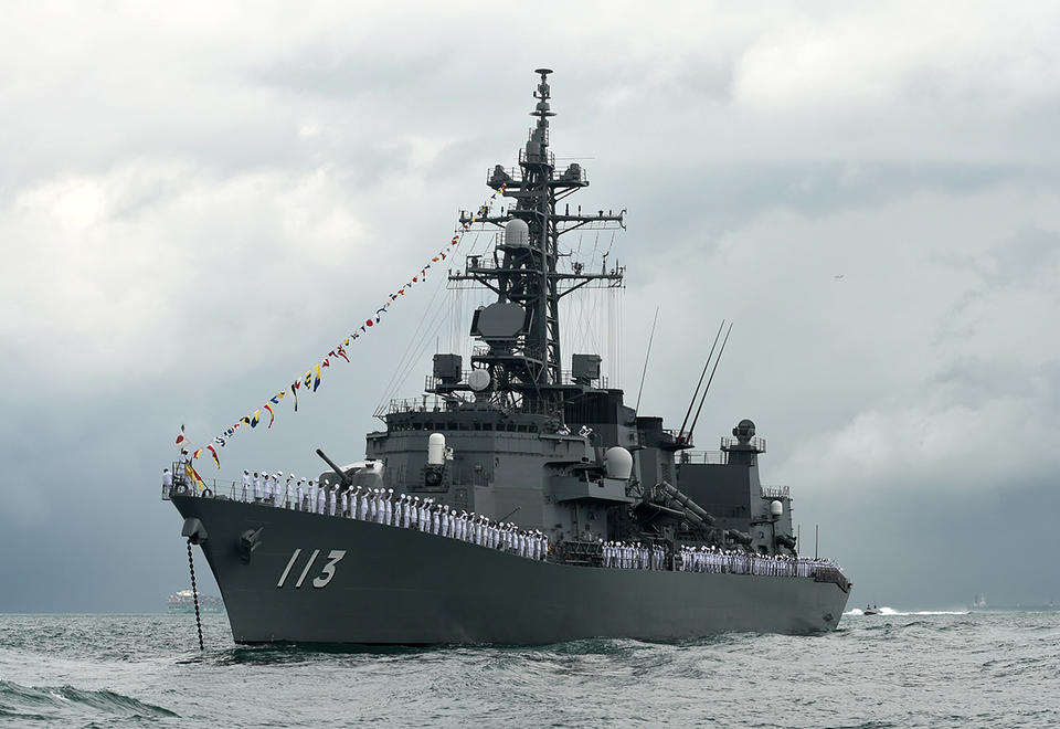 Japanese destroyer heads to the Middle East