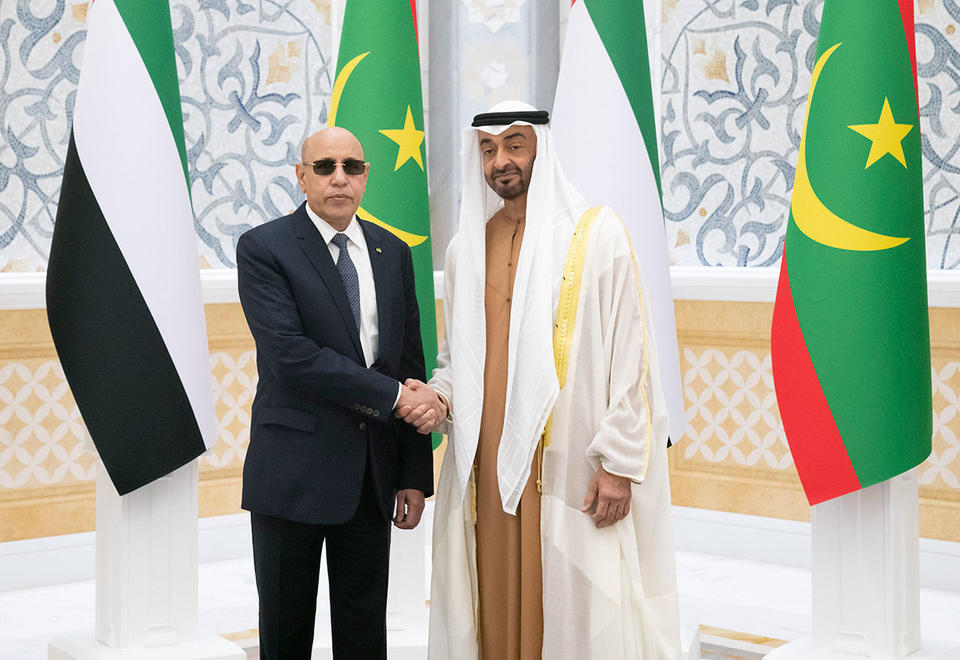 In pictures: Mohamed bin Zayed receives Mauritanian President