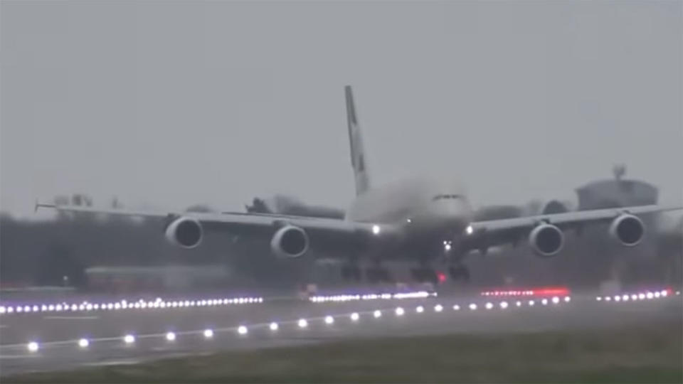 Etihad Airways pilot negotiates 90mph winds to land safely at London's Heathrow Airport