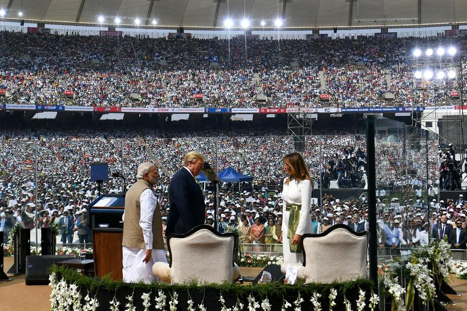 In pictures: President Donald Trump's first official visit to India