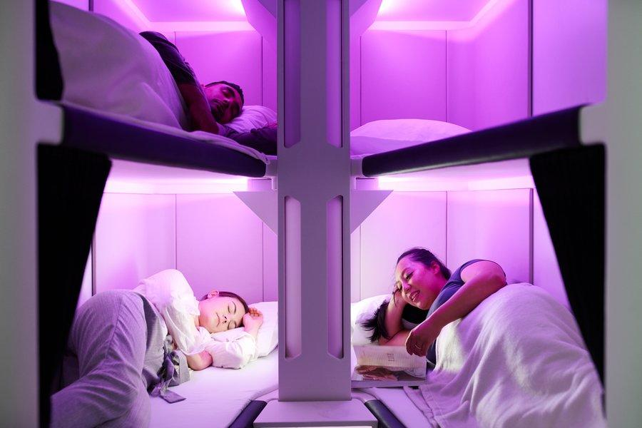 Could airlines offer beds for economy passengers?