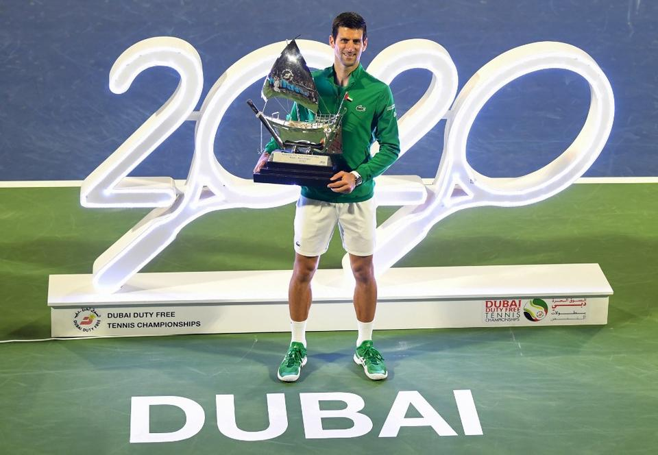 Novak Djokovic Dominates Tsitsipas To Win Fifth Dubai Trophy And 79th Career Title Arabianbusiness