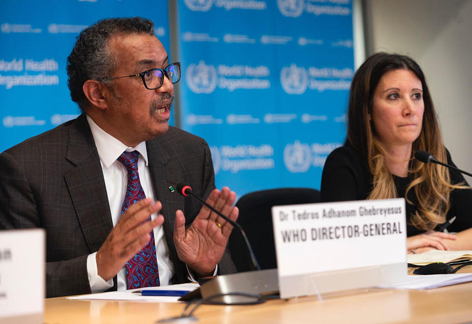 Director general of WHO calls for calm over coronavirus outbreak