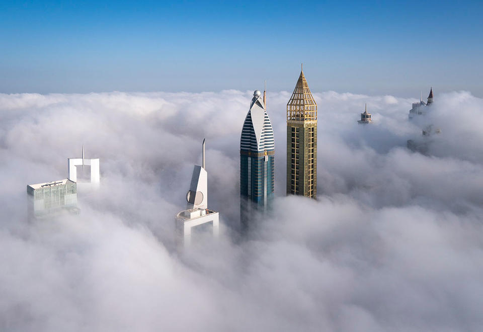 In pictures: Stunning shots of the Dubai skyline covered with fog