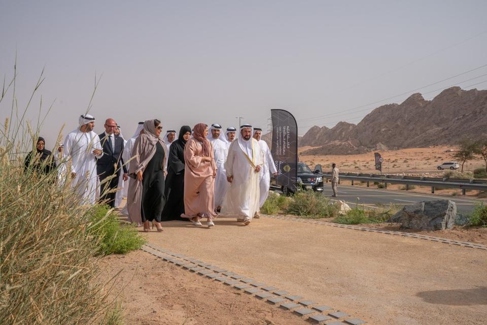 In pictures: Sultan Al Qasimi visits Sharjah's eco-retreat Al Faya Lodge and Al Badayer Oasis