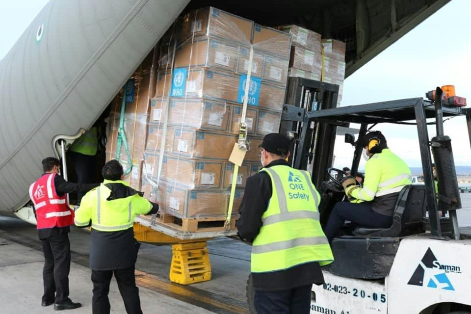 In pictures: WHO logistics hub in Dubai carried 7.5 tonnes of medical supplies to Iran