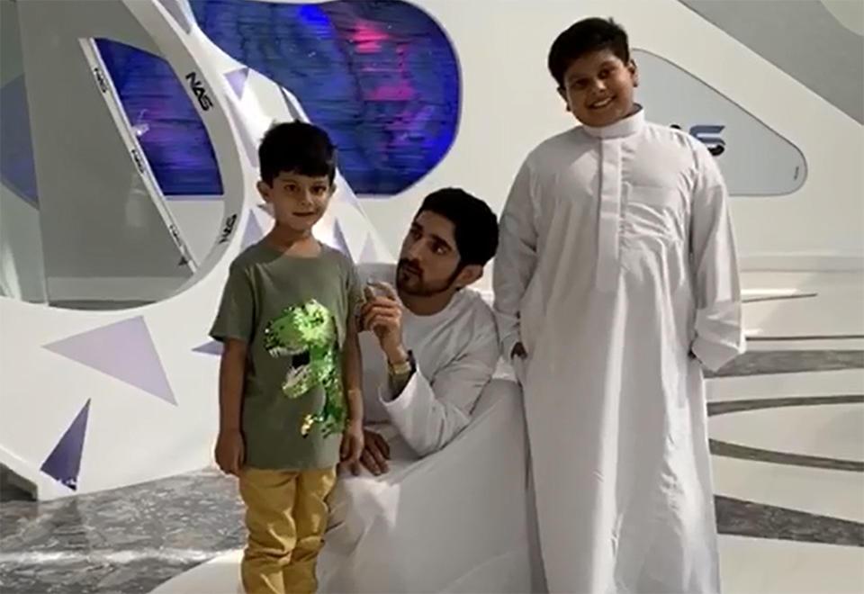 Sheikh Hamdan makes cancer-stricken boy's wish come true