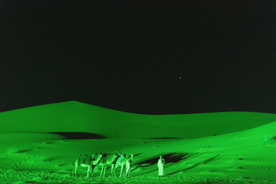 Dubai desert turns green to celebrate St Patrick's Day