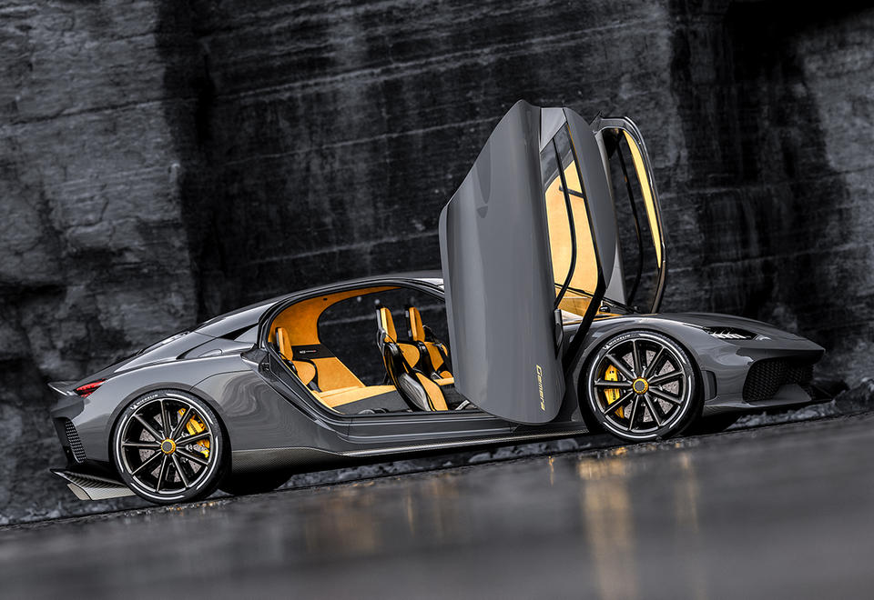 In pictures: New four-seater Koenigsegg Gemera electric hypercar
